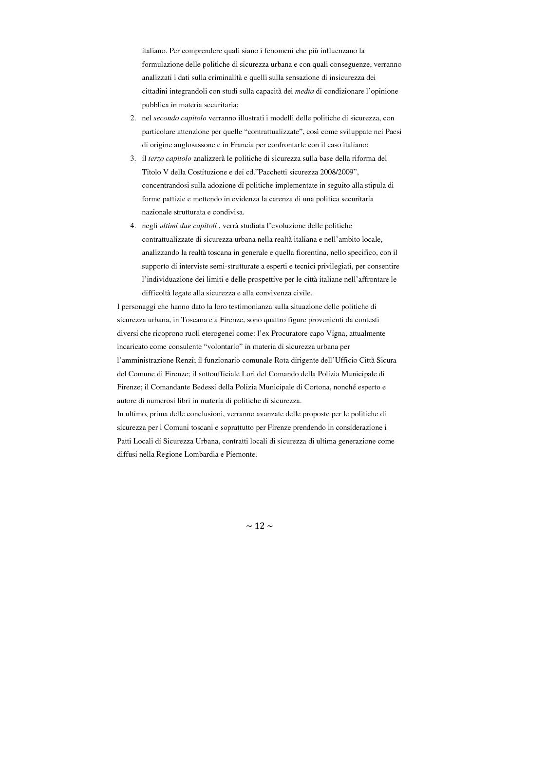 Anteprima della tesi: Contrattualizzare la sicurezza urbana, Pagina 5