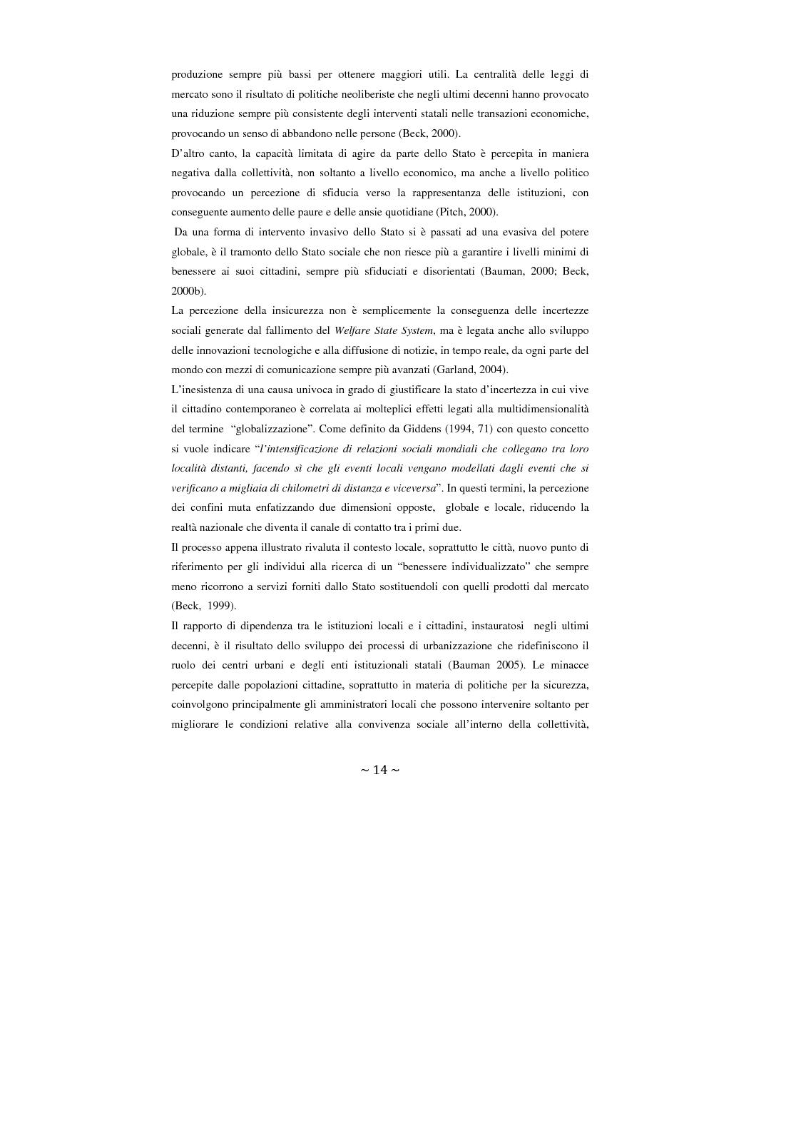 Anteprima della tesi: Contrattualizzare la sicurezza urbana, Pagina 7
