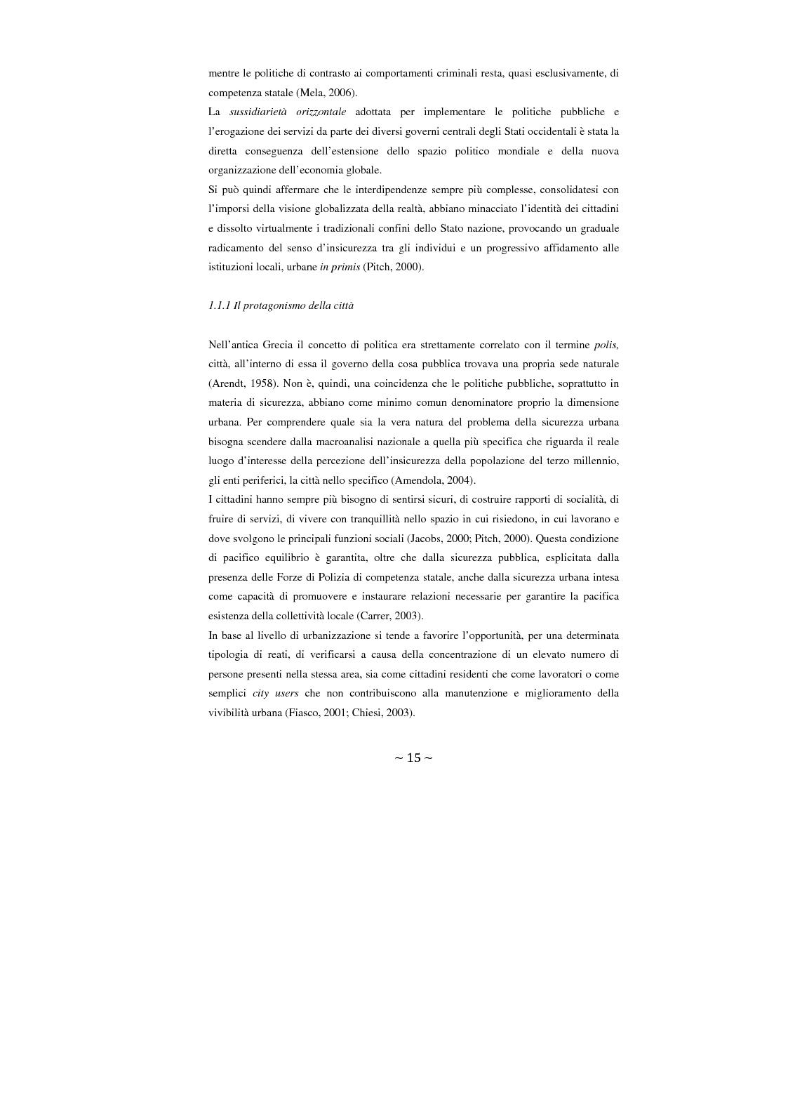 Anteprima della tesi: Contrattualizzare la sicurezza urbana, Pagina 8