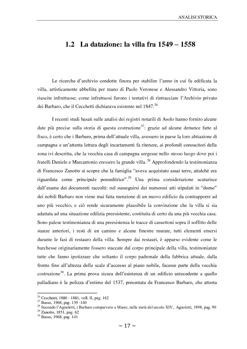Estratto dalla tesi: Il ninfeo di Villa Barbaro a Maser. Interpretazioni e problemi