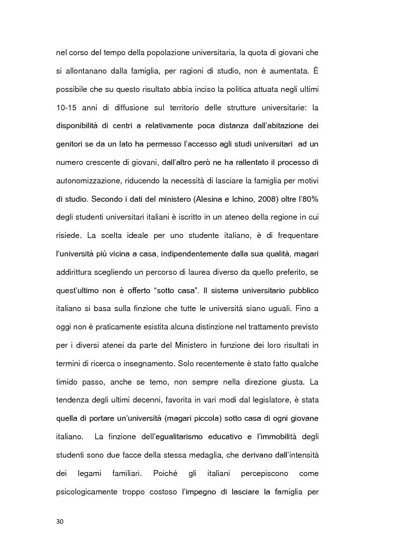 Estratto dalla tesi: Le ragioni della permanenza in famiglia dei giovani adulti italiani