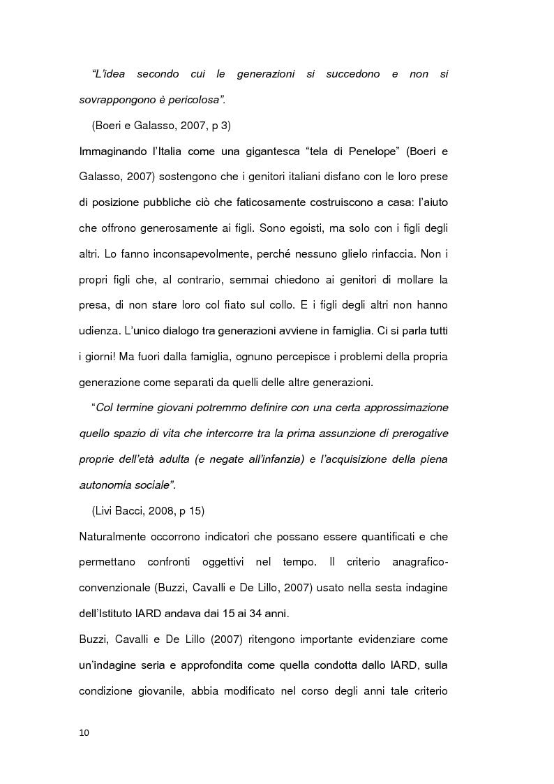Anteprima della tesi: Le ragioni della permanenza in famiglia dei giovani adulti italiani, Pagina 5