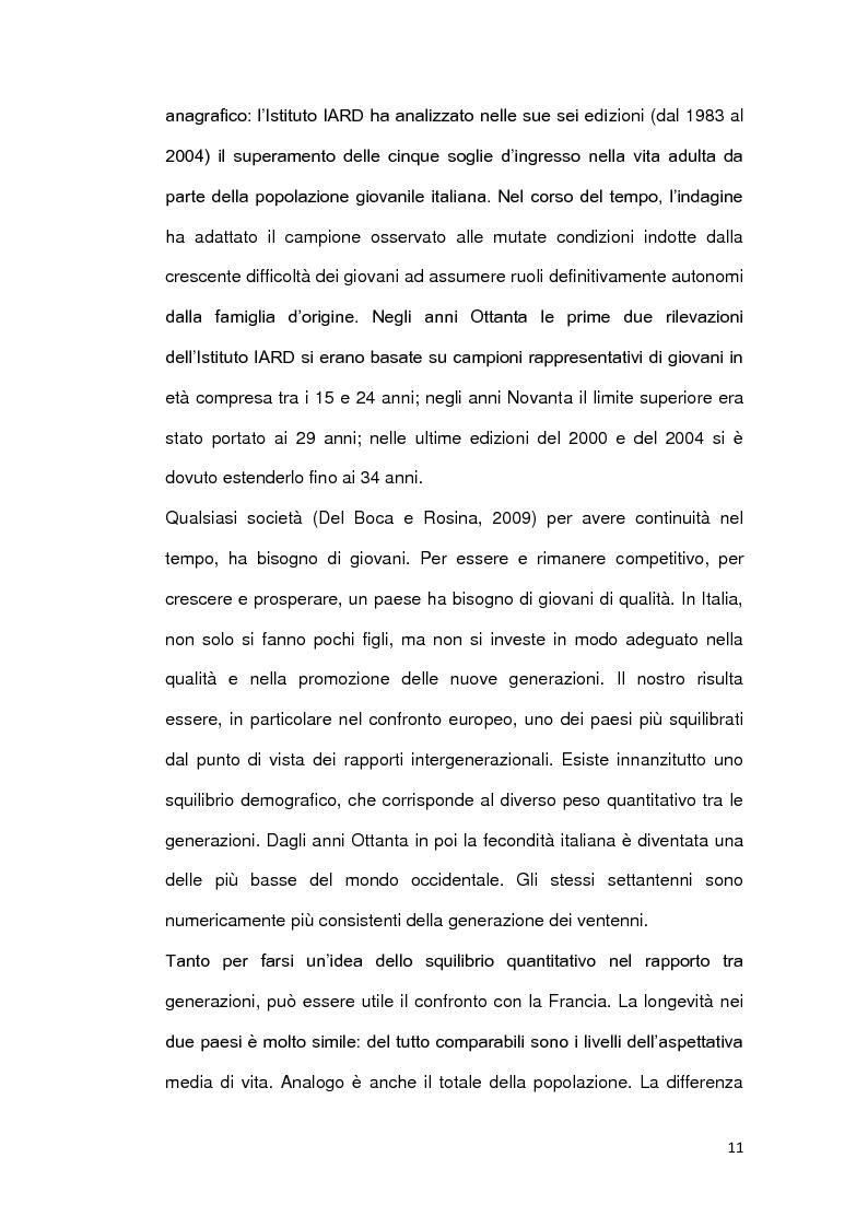 Anteprima della tesi: Le ragioni della permanenza in famiglia dei giovani adulti italiani, Pagina 6