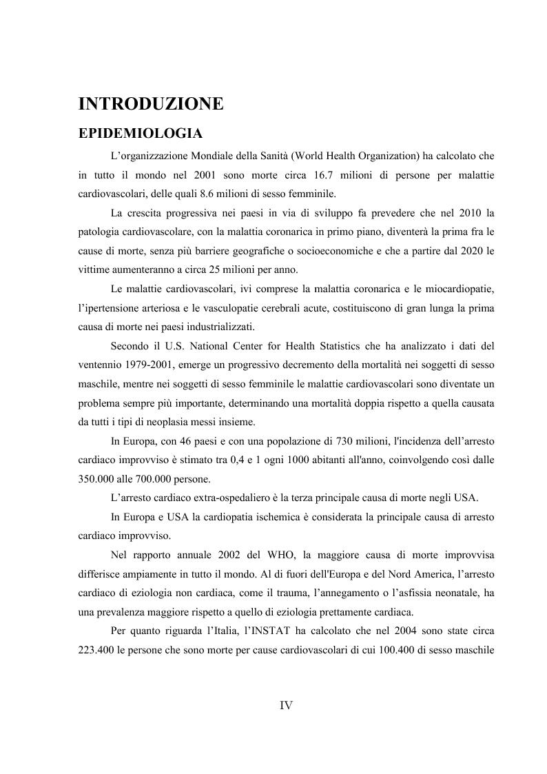 Anteprima della tesi: L'ipotermia terapeutica e le nuove linee guida 2010: una nuova prospettiva per i pazienti dopo arresto cardiocircolatorio, Pagina 2