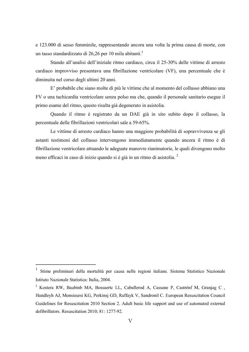 Anteprima della tesi: L'ipotermia terapeutica e le nuove linee guida 2010: una nuova prospettiva per i pazienti dopo arresto cardiocircolatorio, Pagina 3