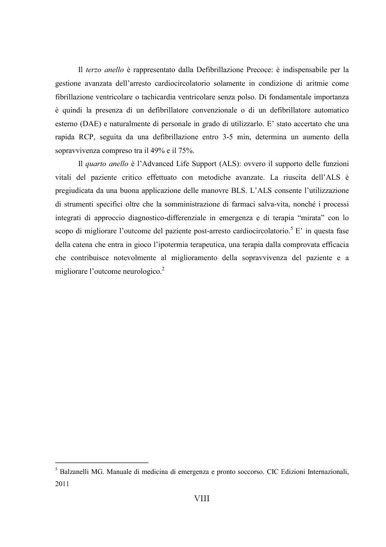 Anteprima della tesi: L'ipotermia terapeutica e le nuove linee guida 2010: una nuova prospettiva per i pazienti dopo arresto cardiocircolatorio, Pagina 6