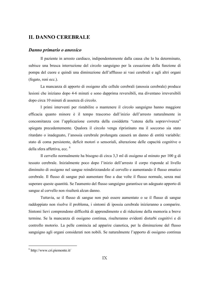 Anteprima della tesi: L'ipotermia terapeutica e le nuove linee guida 2010: una nuova prospettiva per i pazienti dopo arresto cardiocircolatorio, Pagina 7