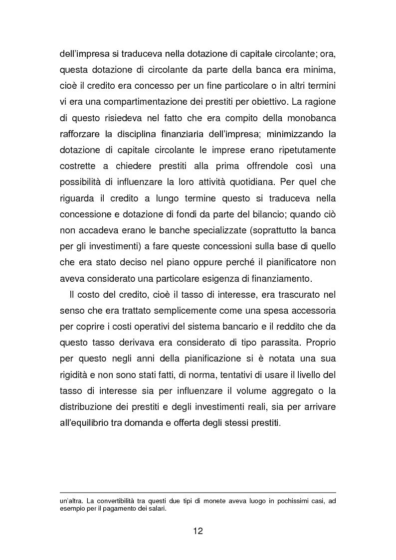 Anteprima della tesi: Risanamento e privatizzazione nel sistema bancario dei PECO 3 (Polonia , Ungheria , Repubblica Ceca), Pagina 11