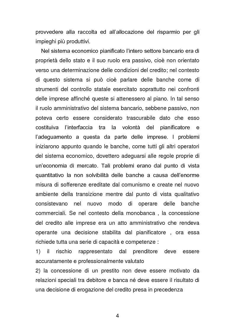 Anteprima della tesi: Risanamento e privatizzazione nel sistema bancario dei PECO 3 (Polonia , Ungheria , Repubblica Ceca), Pagina 3