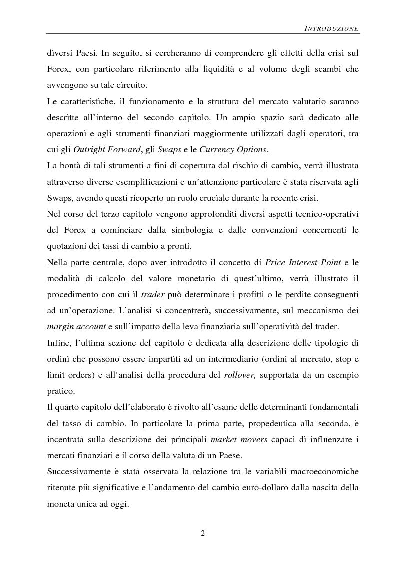 Anteprima della tesi: Gli effetti della crisi sui mercati finanziari. L'eccezione del Forex, Pagina 3
