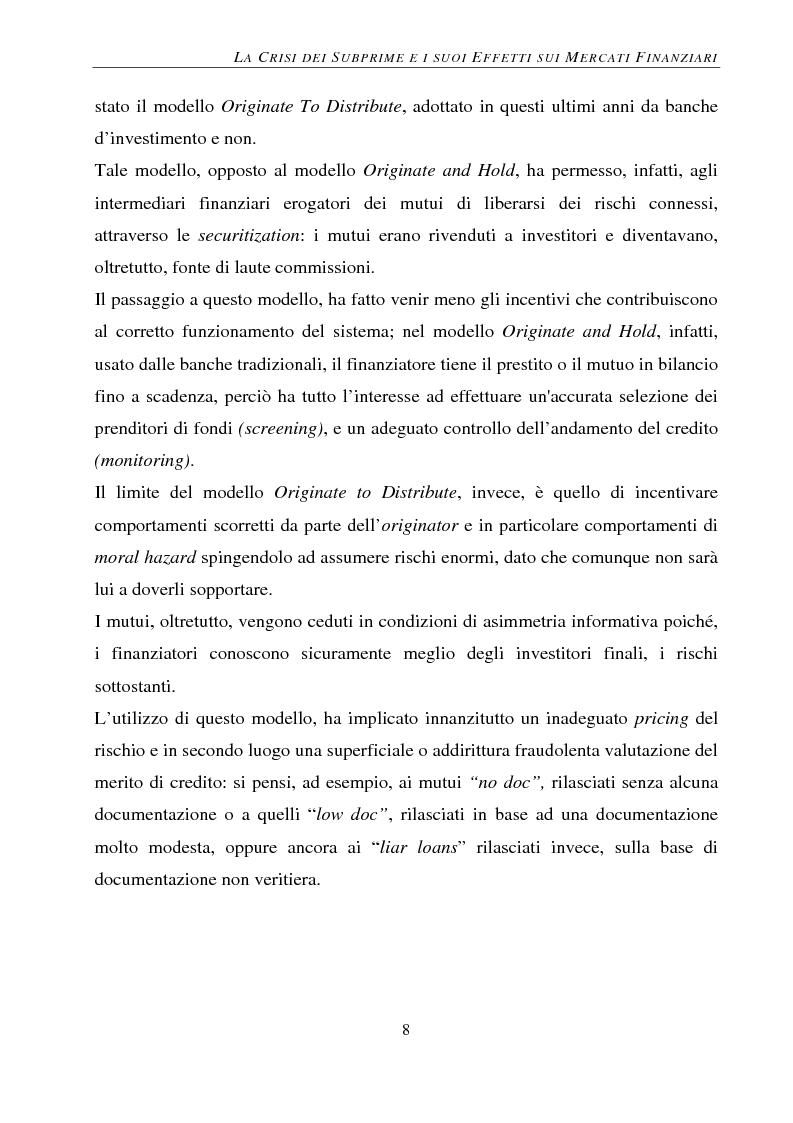 Anteprima della tesi: Gli effetti della crisi sui mercati finanziari. L'eccezione del Forex, Pagina 9