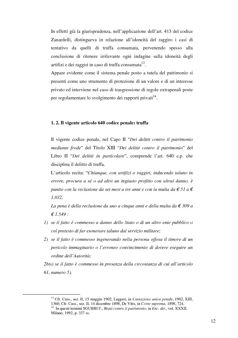 Anteprima della tesi: La frode informatica: origine, ambito di operatività ed applicazione pratica di un reato sempre più attuale., Pagina 11
