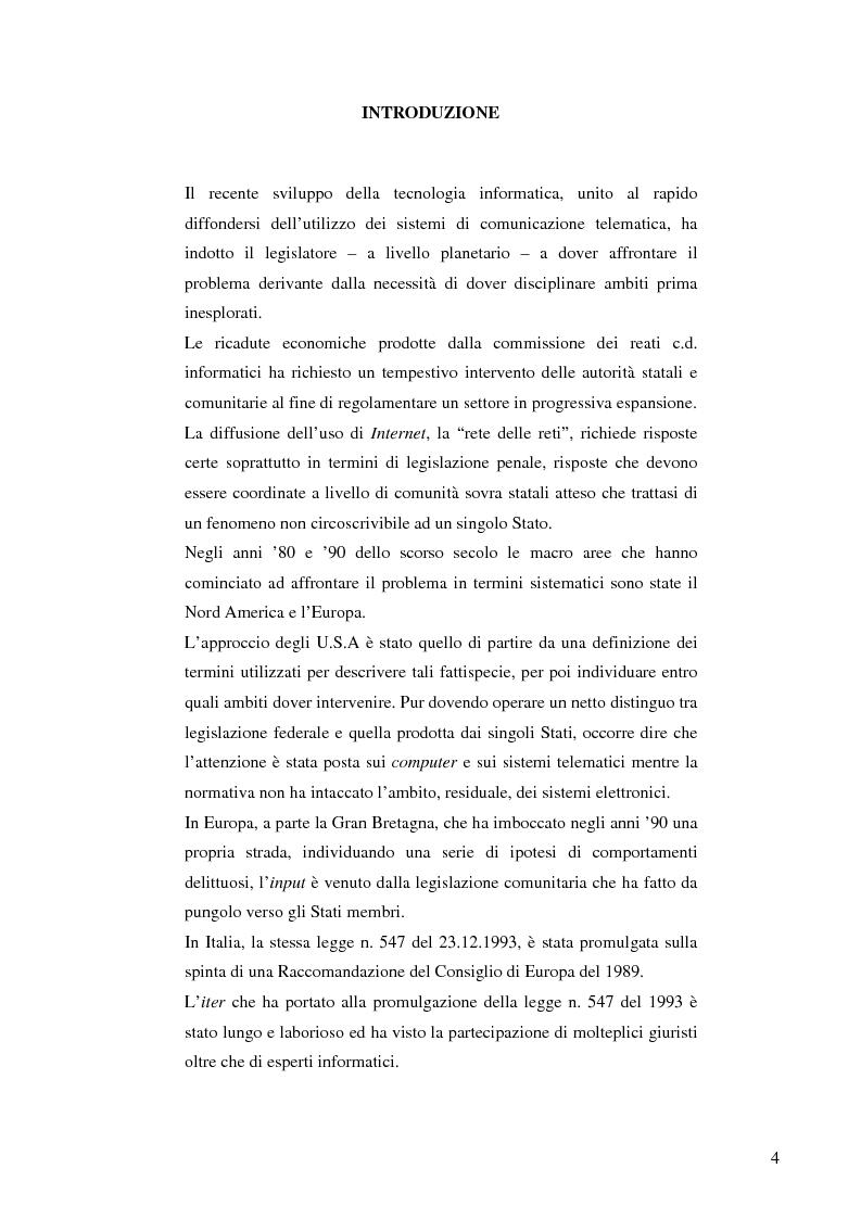 Anteprima della tesi: La frode informatica: origine, ambito di operatività ed applicazione pratica di un reato sempre più attuale., Pagina 2