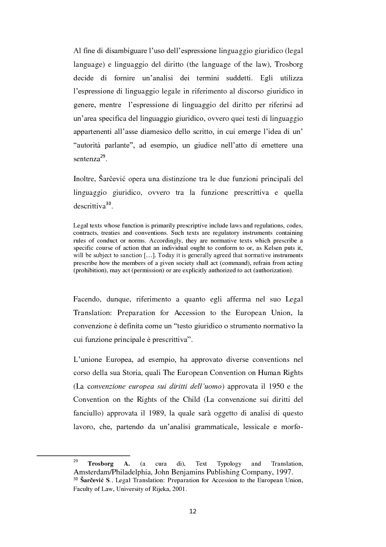 Anteprima della tesi: Analisi di alcune Keywords del linguaggio giuridico nella ''Convention on the Rights of the Child'', Pagina 6