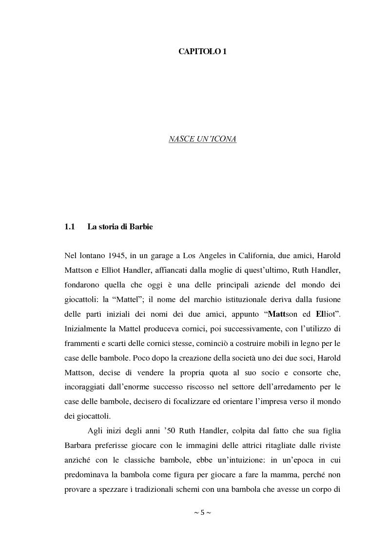 Anteprima della tesi: L'attacco di Bratz a Barbie nel mercato di massa ed il fenomeno My Doll nel mercato di nicchia. Errori di posizionamento e nuove tendenze., Pagina 4