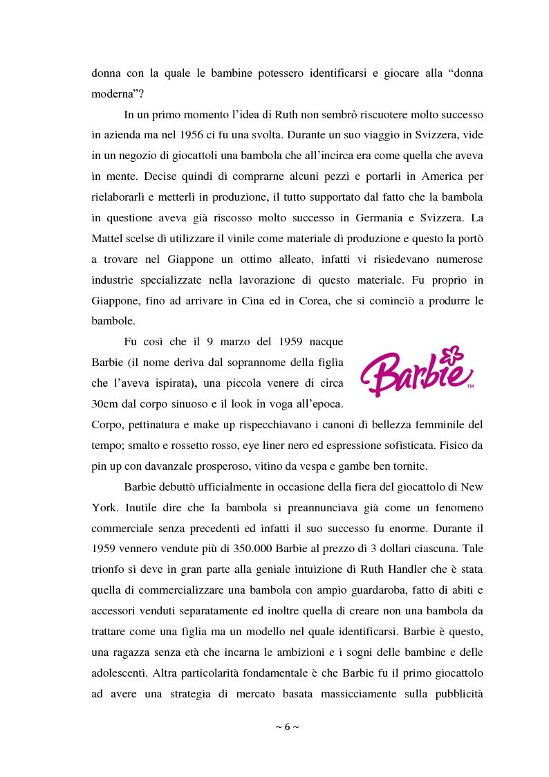 Anteprima della tesi: L'attacco di Bratz a Barbie nel mercato di massa ed il fenomeno My Doll nel mercato di nicchia. Errori di posizionamento e nuove tendenze., Pagina 5