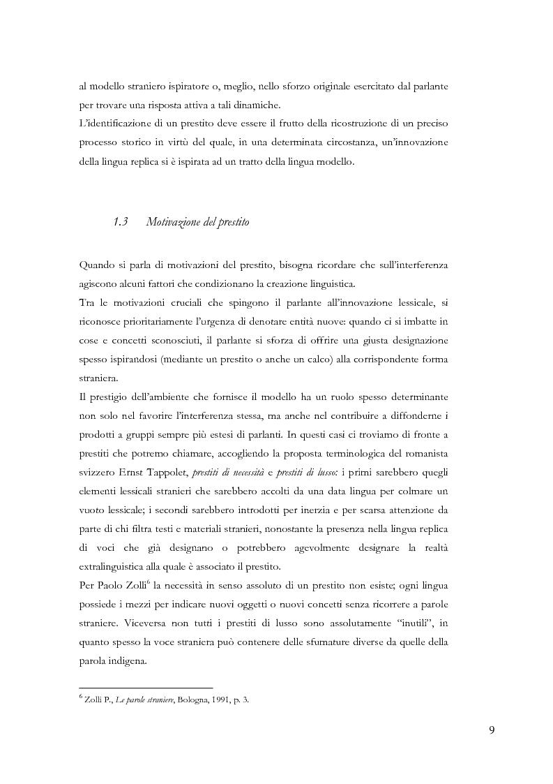 Anteprima della tesi: Gli ispanismi nei dialetti lombardi: l'area lombarda-occidentale, Pagina 10
