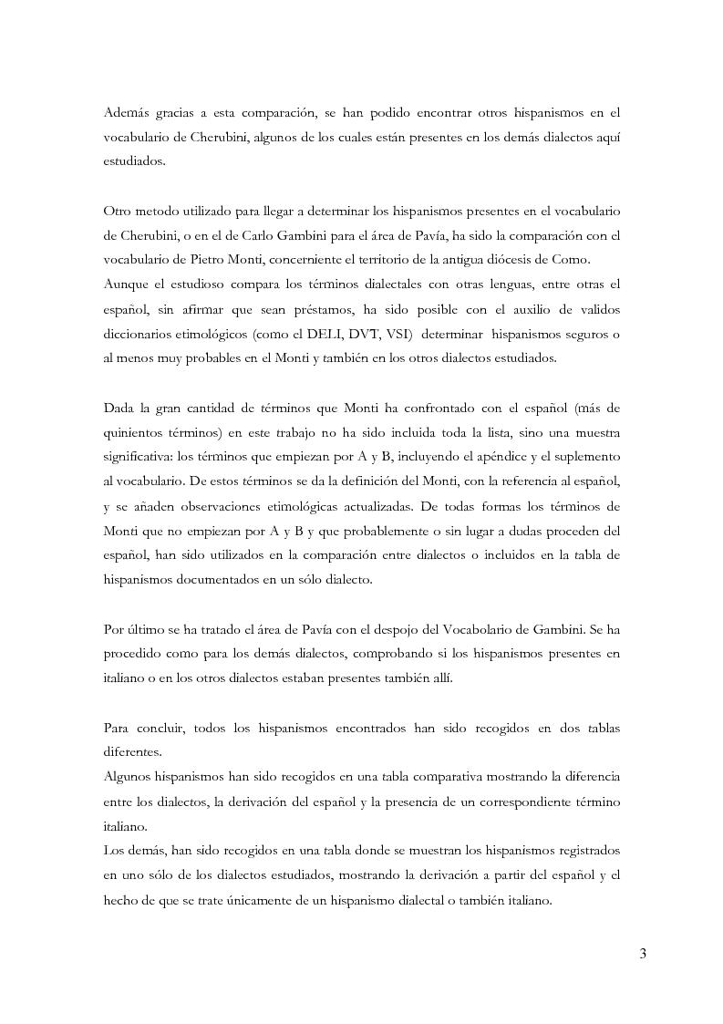 Anteprima della tesi: Gli ispanismi nei dialetti lombardi: l'area lombarda-occidentale, Pagina 4