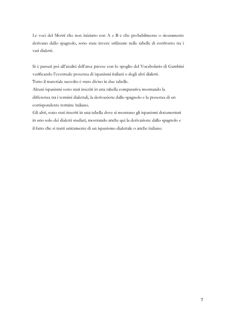 Anteprima della tesi: Gli ispanismi nei dialetti lombardi: l'area lombarda-occidentale, Pagina 8
