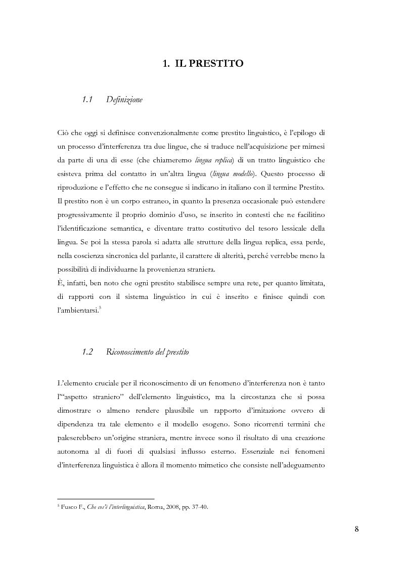 Anteprima della tesi: Gli ispanismi nei dialetti lombardi: l'area lombarda-occidentale, Pagina 9