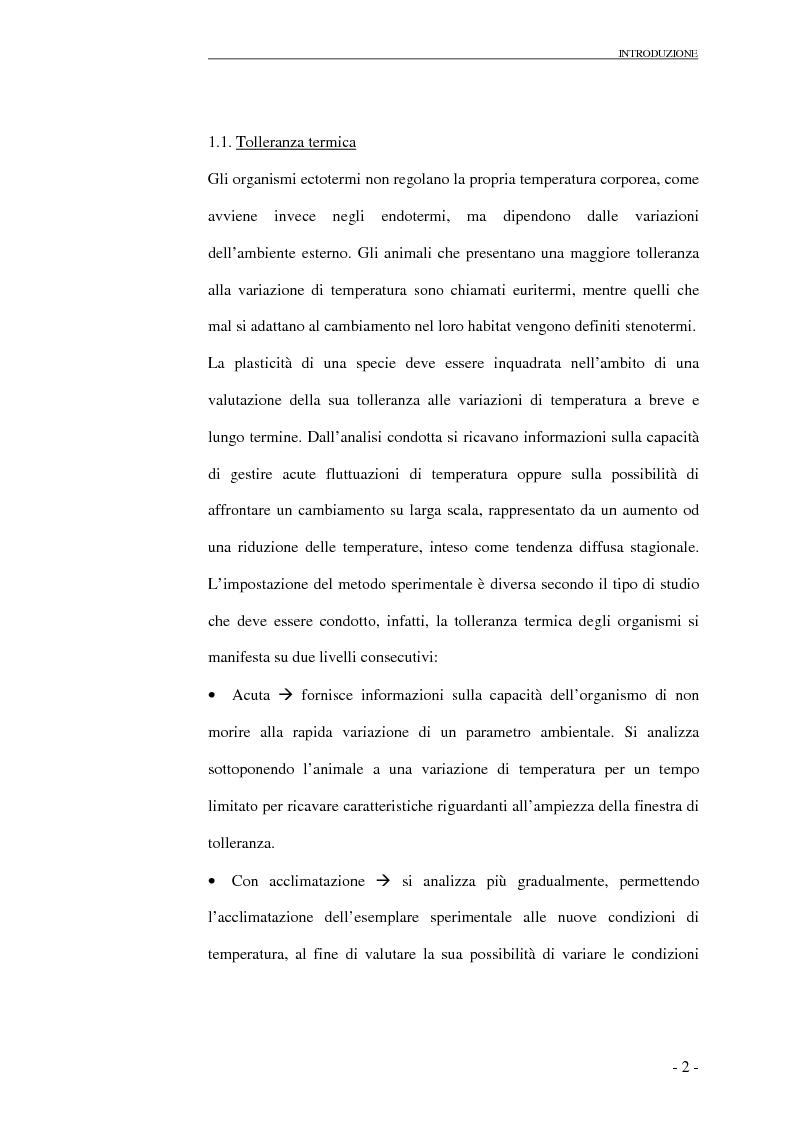 Anteprima della tesi: Risposte cardio-circolatorie a variazioni di temperatura e stress ambientali: il caso di Carcinus maenas e C. aestuarii., Pagina 3