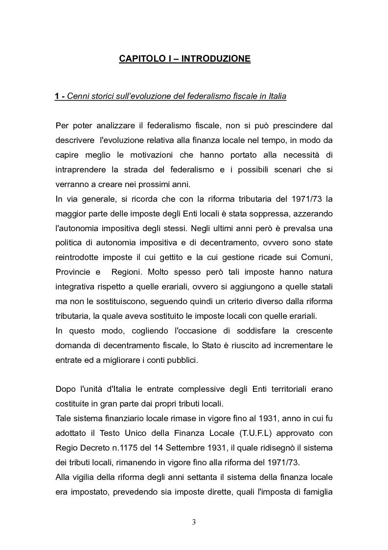 Anteprima della tesi: Concetto di costo standard nel federalismo fiscale, Pagina 2