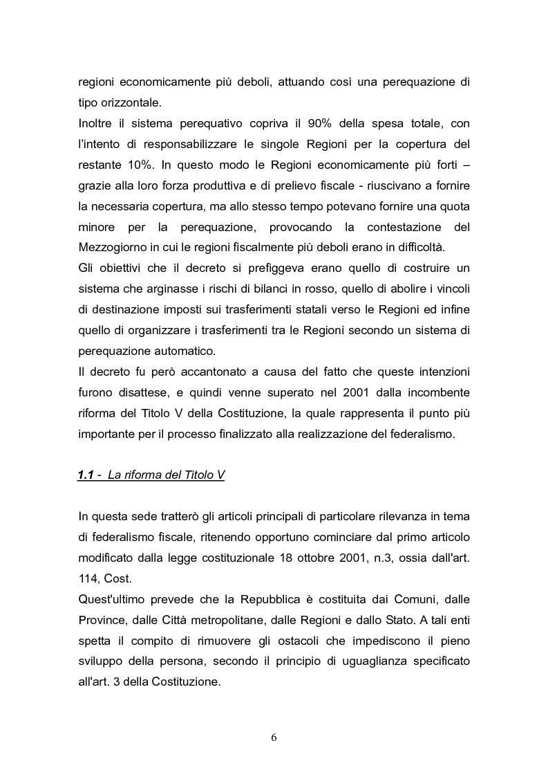 Anteprima della tesi: Concetto di costo standard nel federalismo fiscale, Pagina 5
