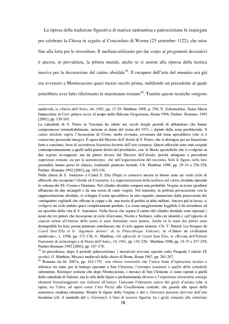 Anteprima della tesi: I dipinti murali di S. Benedetto in Piscinula a Roma, Pagina 12