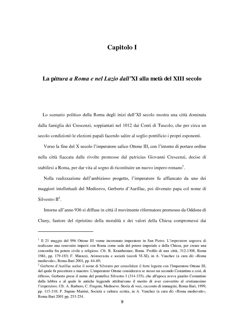 Anteprima della tesi: I dipinti murali di S. Benedetto in Piscinula a Roma, Pagina 2