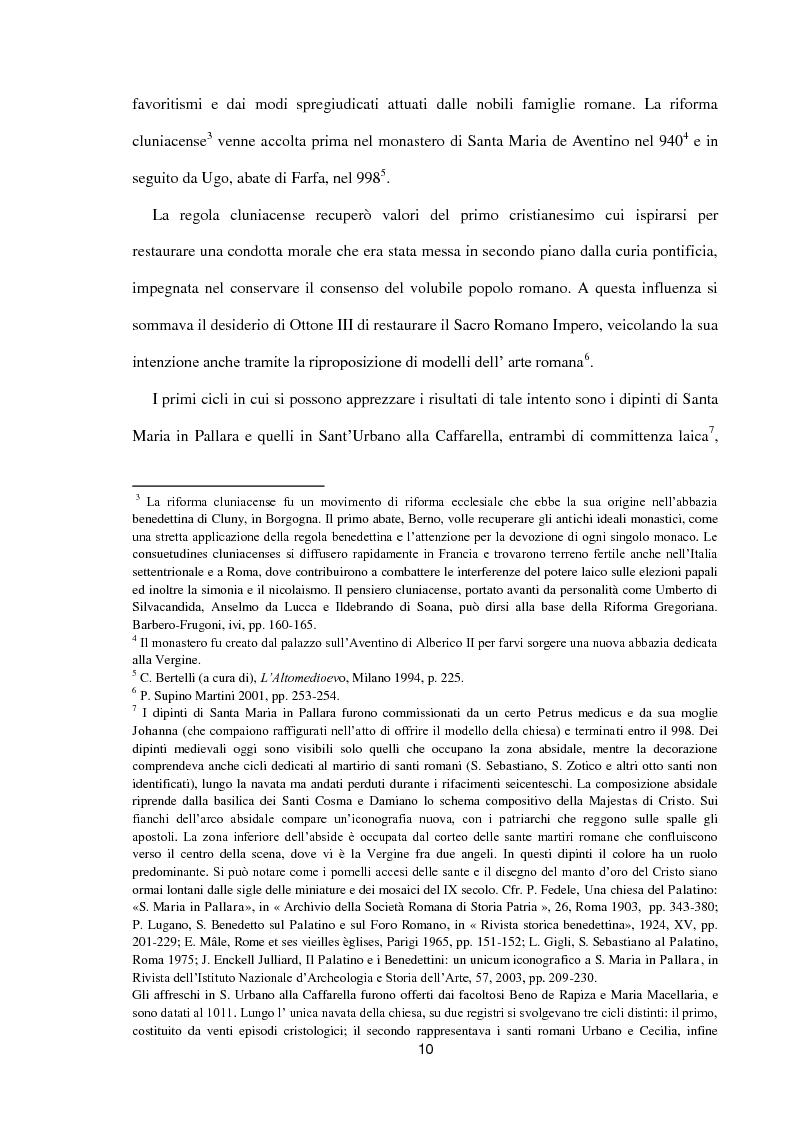 Anteprima della tesi: I dipinti murali di S. Benedetto in Piscinula a Roma, Pagina 3