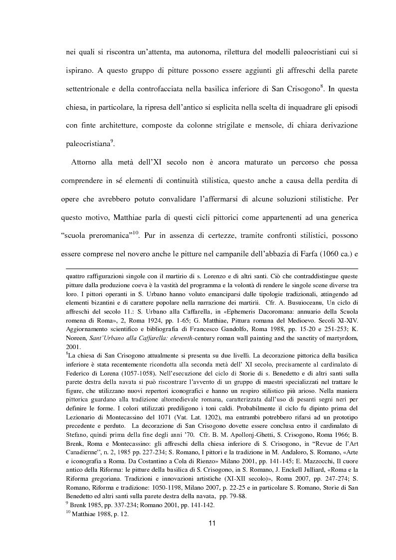 Anteprima della tesi: I dipinti murali di S. Benedetto in Piscinula a Roma, Pagina 4