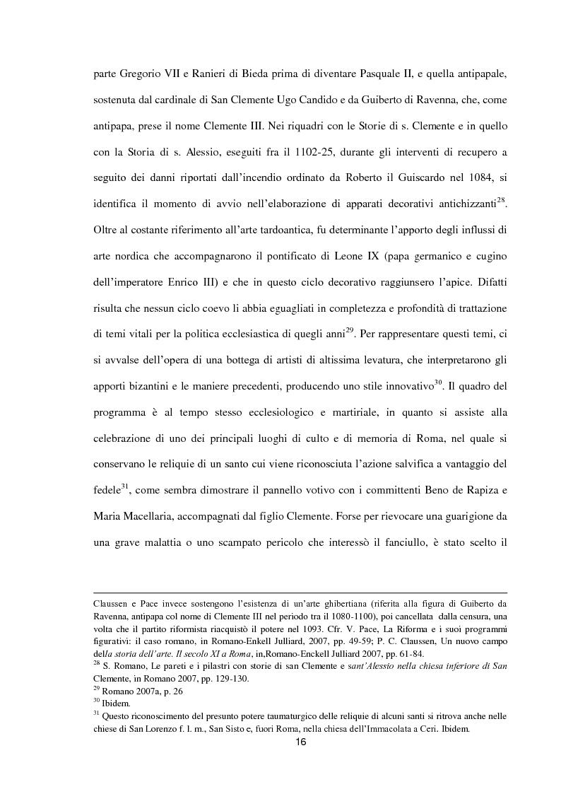 Anteprima della tesi: I dipinti murali di S. Benedetto in Piscinula a Roma, Pagina 9