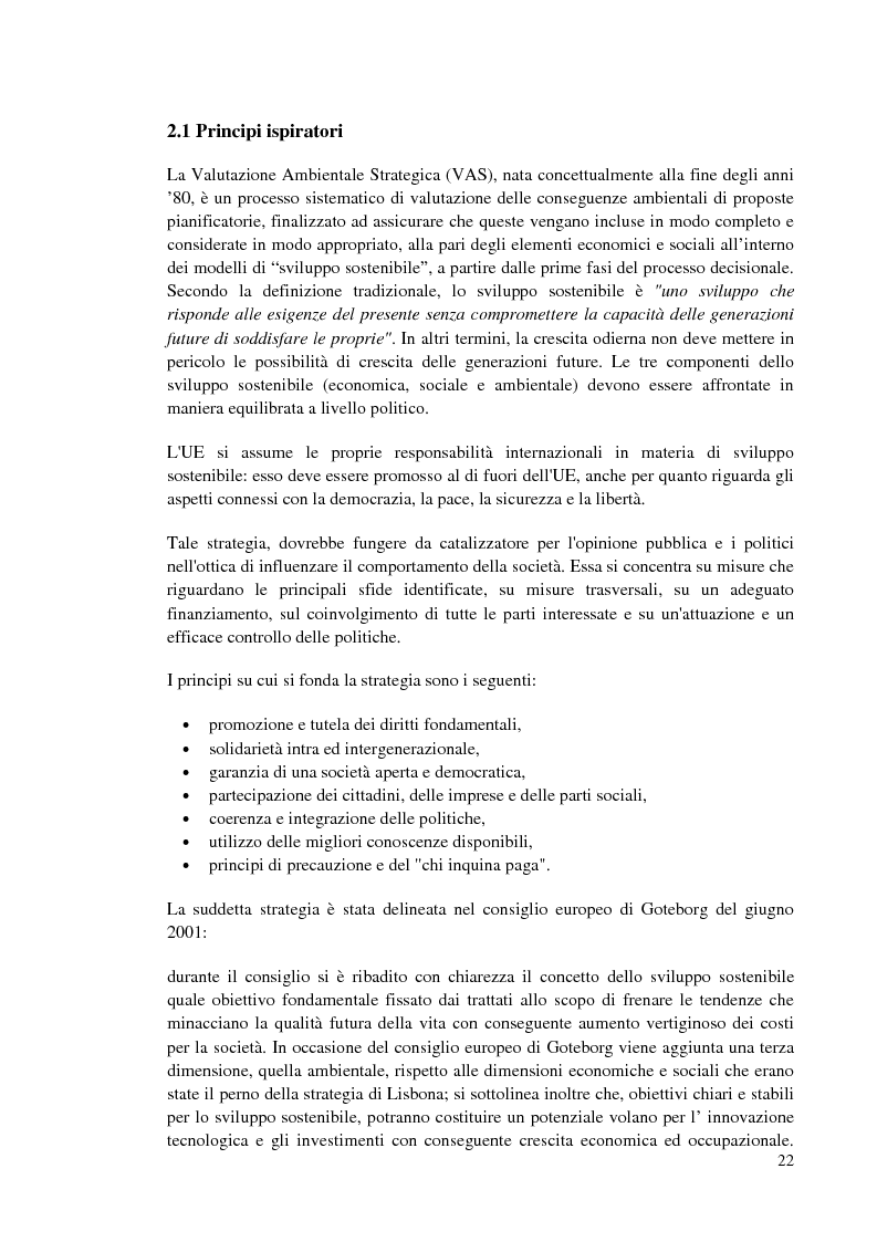 Estratto dalla tesi: Valutazione ambientale strategica del piano regolatore portuale di Cagliari