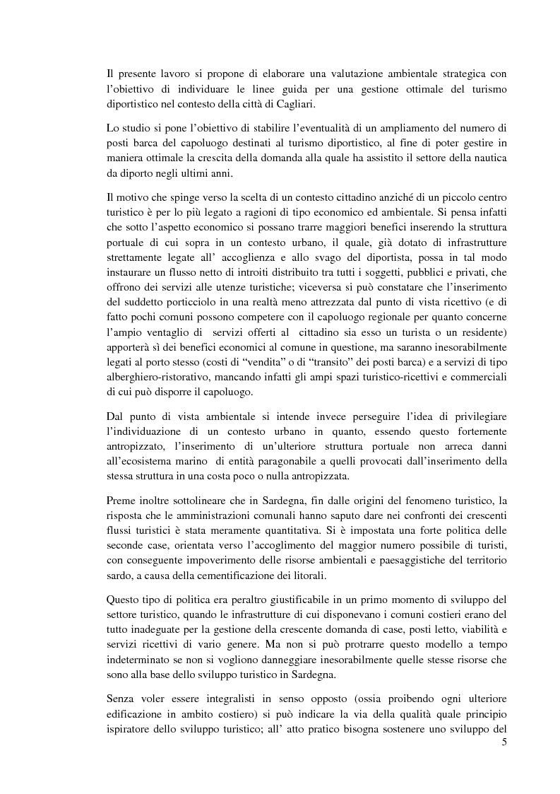 Anteprima della tesi: Valutazione ambientale strategica del piano regolatore portuale di Cagliari, Pagina 2