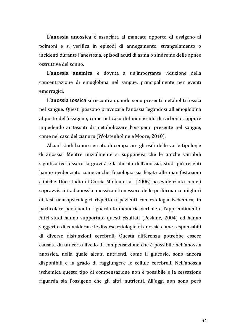 Anteprima della tesi: Funzioni Esecutive e Cognizione Sociale nei danni diffusi da Anossia Cerebrale: studio di 5 casi clinici, Pagina 10