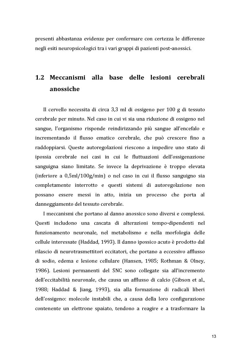 Anteprima della tesi: Funzioni Esecutive e Cognizione Sociale nei danni diffusi da Anossia Cerebrale: studio di 5 casi clinici, Pagina 11