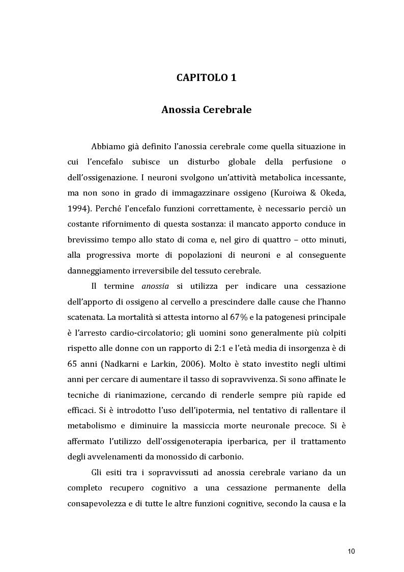 Anteprima della tesi: Funzioni Esecutive e Cognizione Sociale nei danni diffusi da Anossia Cerebrale: studio di 5 casi clinici, Pagina 8