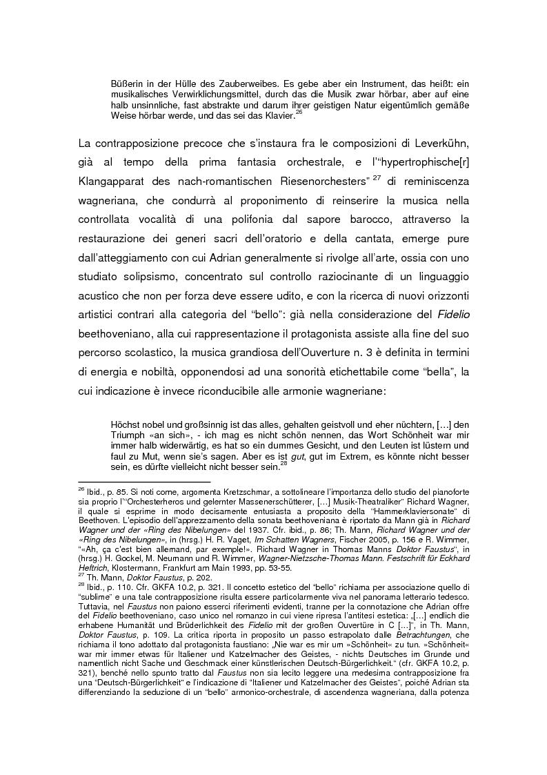 Anteprima della tesi: Thomas Mann e Adrian Leverkühn. L'ideazione del romanzo «Doktor Faustus» tra Wagner, Adorno e Schönberg, Pagina 13