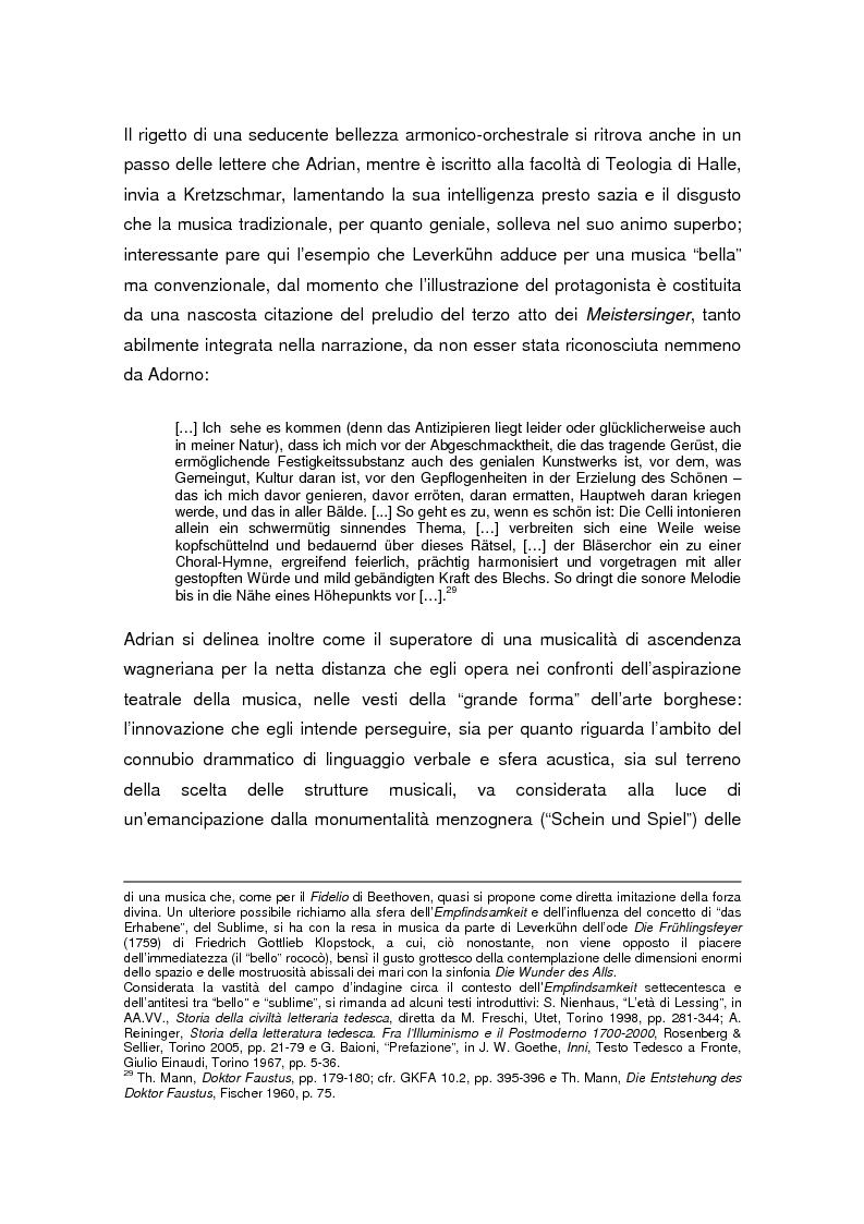 Anteprima della tesi: Thomas Mann e Adrian Leverkühn. L'ideazione del romanzo «Doktor Faustus» tra Wagner, Adorno e Schönberg, Pagina 14