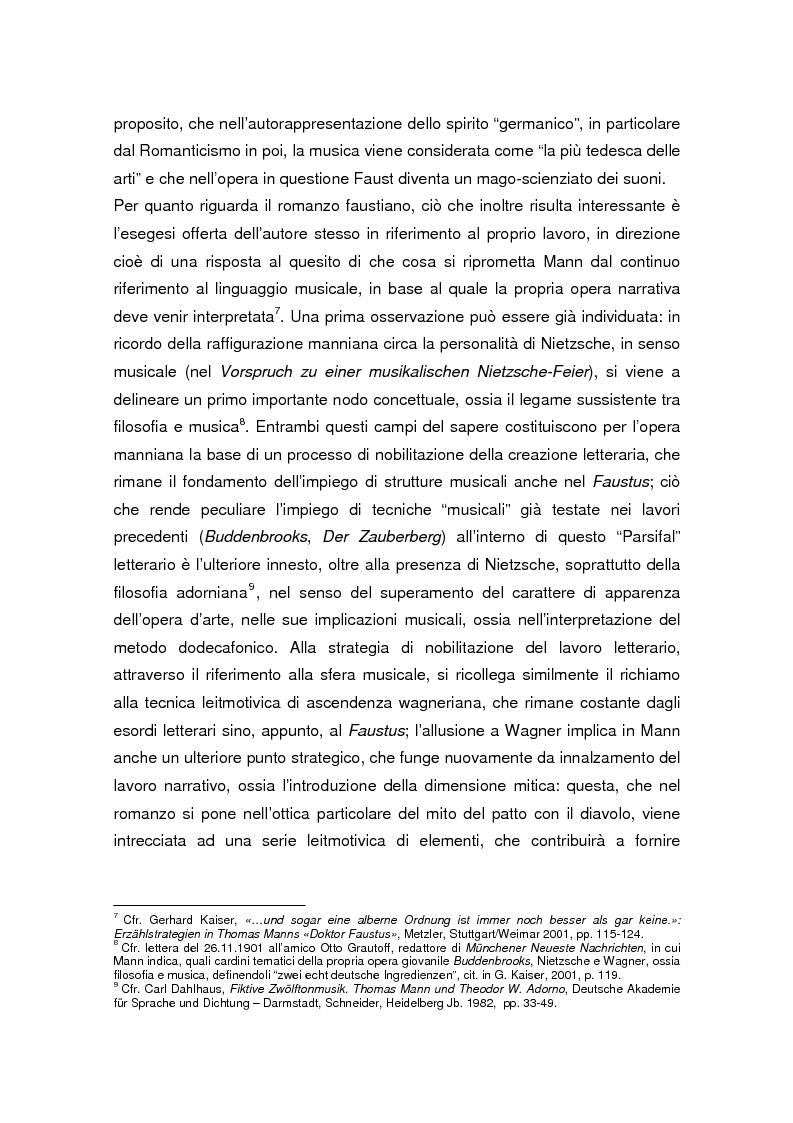 Anteprima della tesi: Thomas Mann e Adrian Leverkühn. L'ideazione del romanzo «Doktor Faustus» tra Wagner, Adorno e Schönberg, Pagina 5