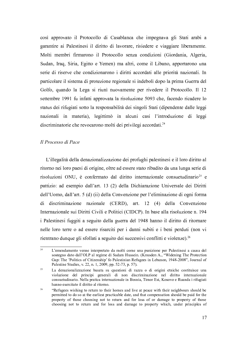 Anteprima della tesi: Identità, marginalizzazione e conflitto nei campi profughi palestinesi in Libano. Il campo di Nahr el-Bared., Pagina 9