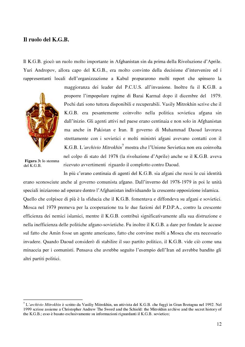 Anteprima della tesi: Il coinvolgimento della Cia e degli ulteriori attori nella guerra per procura anti-Urss in Afghanistan, Pagina 10