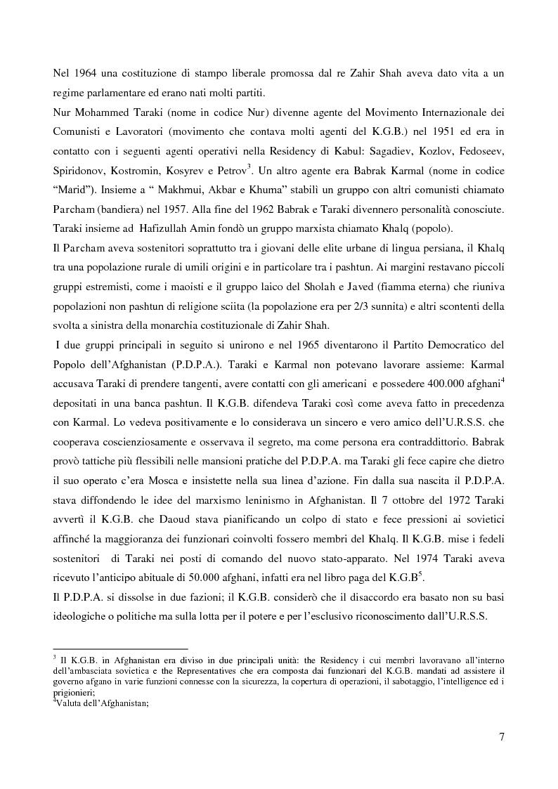 Anteprima della tesi: Il coinvolgimento della Cia e degli ulteriori attori nella guerra per procura anti-Urss in Afghanistan, Pagina 5