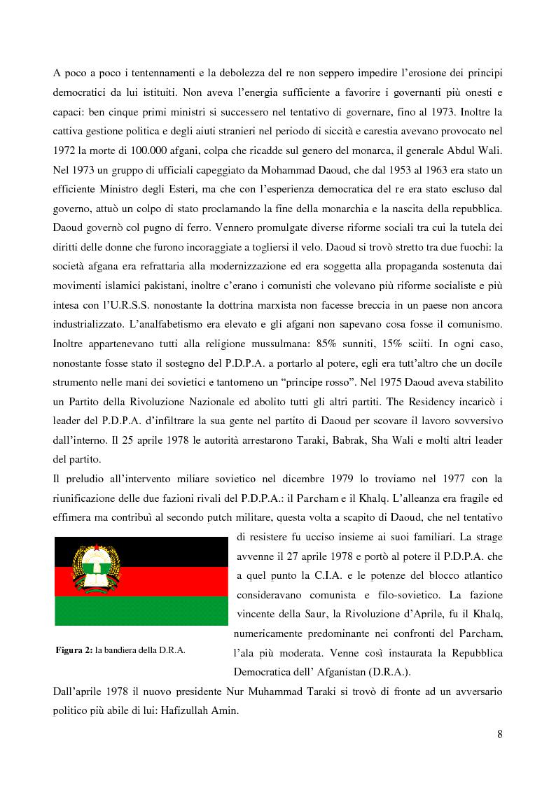 Anteprima della tesi: Il coinvolgimento della Cia e degli ulteriori attori nella guerra per procura anti-Urss in Afghanistan, Pagina 6
