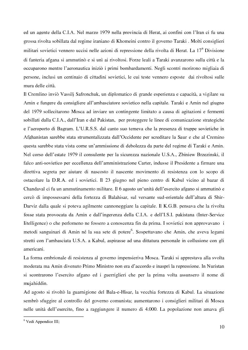 Anteprima della tesi: Il coinvolgimento della Cia e degli ulteriori attori nella guerra per procura anti-Urss in Afghanistan, Pagina 8