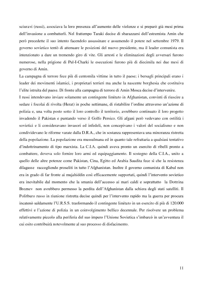 Anteprima della tesi: Il coinvolgimento della Cia e degli ulteriori attori nella guerra per procura anti-Urss in Afghanistan, Pagina 9