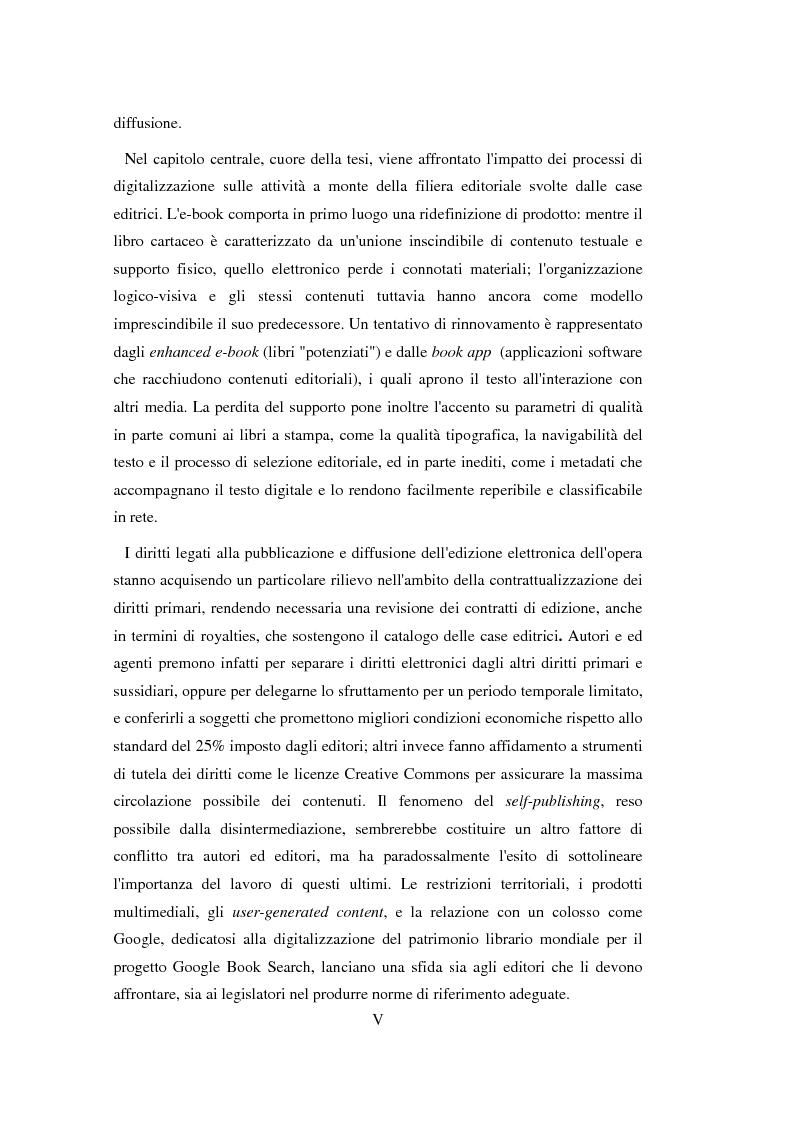 Anteprima della tesi: Google Books, book apps, e-readers: l'editore è davvero destinato a sparire?, Pagina 3
