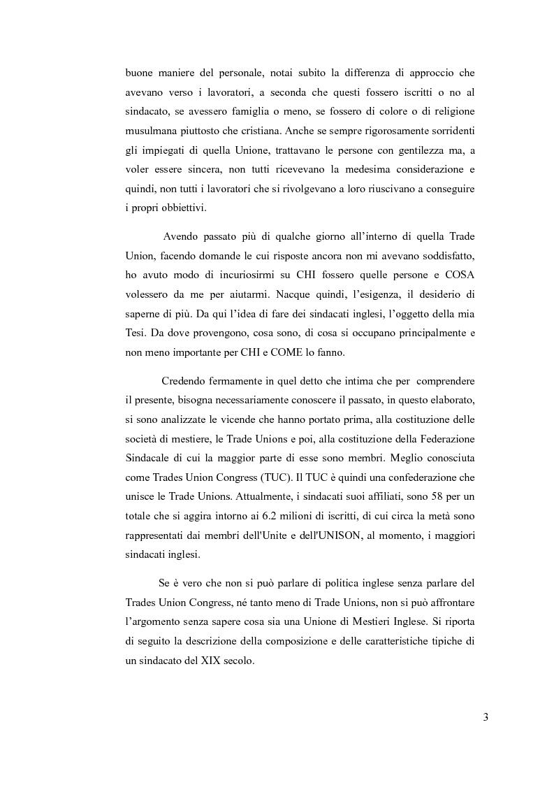 Anteprima della tesi: Trades Union Congress: Strumento di pressione sui Partiti Politici, Pagina 3