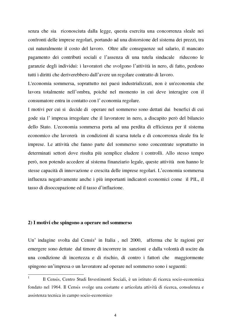 Anteprima della tesi: Il fenomeno dell'economia sommersa in Italia, Pagina 5
