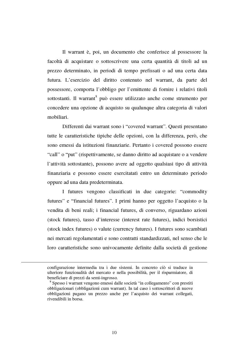 Anteprima della tesi: Le scelte di investimento e la gestione di portafoglio, Pagina 11